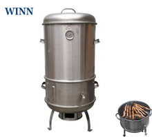 40cm charbroiler cordeiro espeto grelhar fogão destacável churrasco carne pendurado forno de aço inoxidável carvão grelhar forno para fora