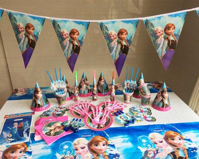 72pcs Kids Birthday Party Decoration Set Beautiful Girl Elsa Paper Cup+Paper Plates+Paper & 72pcs Kids Birthday Party Decoration Set Beautiful Girl Elsa Paper ...