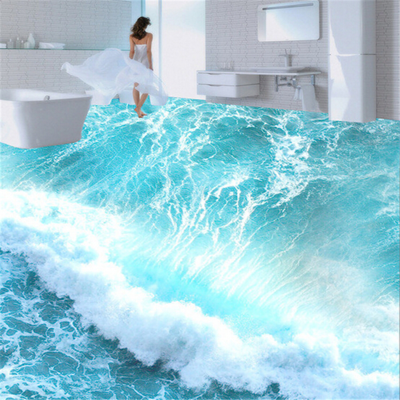3d Wallpaper For Home Wall Price In India Papel De Parede Custom Ground Waterproof Stereo Stickers