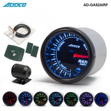 """Автомобильный Автомобильный 12 в 52 мм/"""" 7 цветов, универсальный автомобильный измеритель соотношения воздушного топлива, светодиодный измеритель с держателем AD-GA52AIRF"""