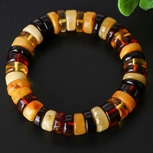 Authentic natural amber bracelet ladies mixed color round female models