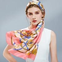 Hangzhou 100% Silk Scarf Silk Shawls Women 2019 Pure Silk Scarves Wraps For Female Headscarf Neckerchief Foulard Femme
