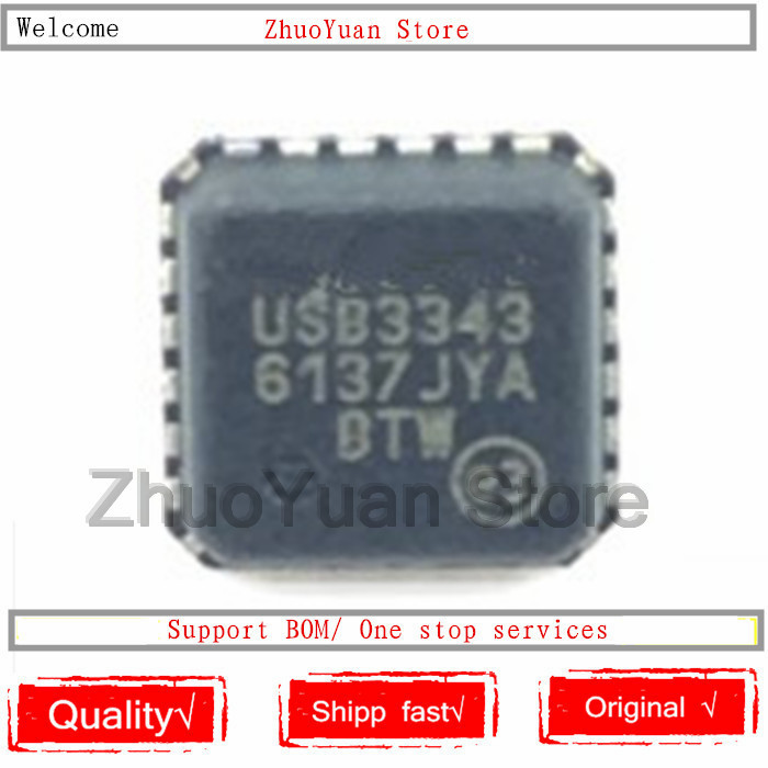 1PCS/lot USB3343-CP-TR USB3343 QFN24 New Original IC Chip
