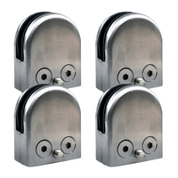 Promotion 4X Stainless Steel Glass Clamp Holder For Window Balustrade Handrail 52 43 24 Mm