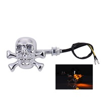 Skull Kito Motorcycle Motorcross Electric Cars ATV Scooters Turn Signal Lights Turn Lights Color Flash Motor