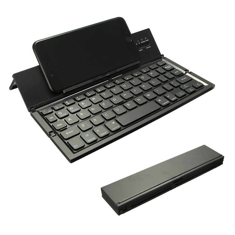 portable wireless keyboard foldable bluetooth keyboard for table pc laptop mini keypad qwerty. Black Bedroom Furniture Sets. Home Design Ideas