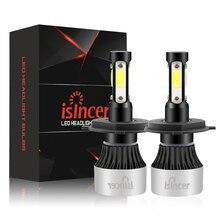 ISincer светодиодный фар H7 светодиодный H4 H11 9005 9006 HB4 HB3 9003 автомобиль свет 22500LM 72 W авто фары 6500 K Светодиодная лампа Светодиодный светильник