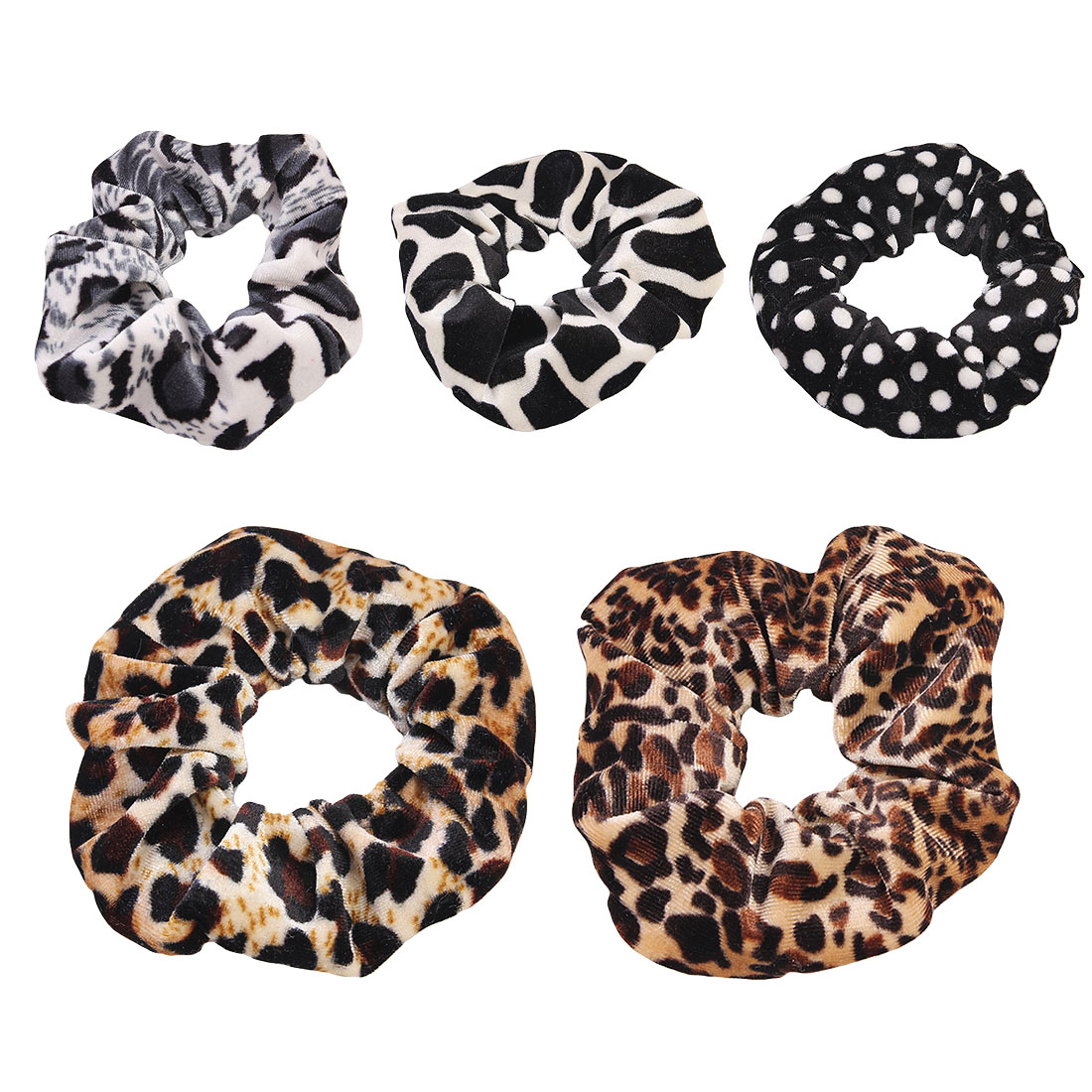 1Pcs Classic simple Smooth Animal Velvet hair Scrunchies Leopard Print Houndstooth patterns autumn winter hairbands accessory in Women 39 s Hair Accessories from Apparel Accessories