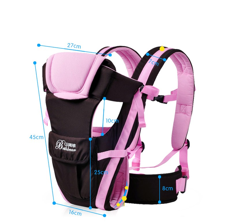 2-30 Months Breathable Multifunctional Front Facing Baby Carrier Infant Sling Backpack Pouch Wrap Baby Kangaroo_1111