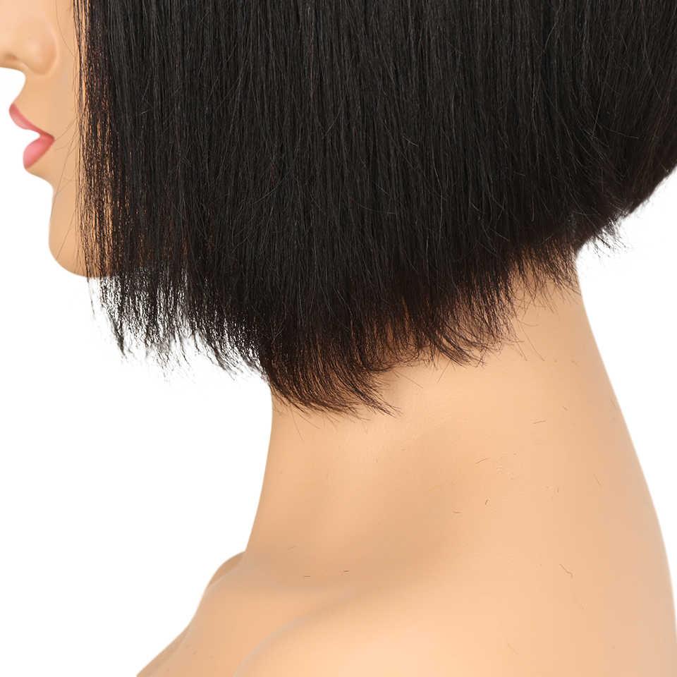 Гладкие кружевные передние человеческие волосы парики прямые парики для черных женщин L часть Натуральные Цветные бразильские волосы парики Бесплатная доставка