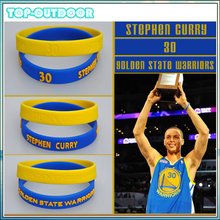 2pcs/set Silicone Wristband Bracelet Bangle Basketball Star Stephen Curry James Kobe Jordan Power Bands
