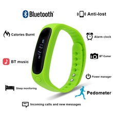 2016 neue Bluetooth Smart Uhr Tc076 SmartBand Armband Tragbare Leben Wasserdicht Schrittzähler SmartWatch Für IOS Android 60 mAh