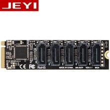 JEYI JMS585 Slim JMS585 5Port SATA 5*sata 5xSATA M. 2 nvme to sata pci   e to PCIE sata disk array 5 CARDS RAID0 RAID1 RAID10 U2