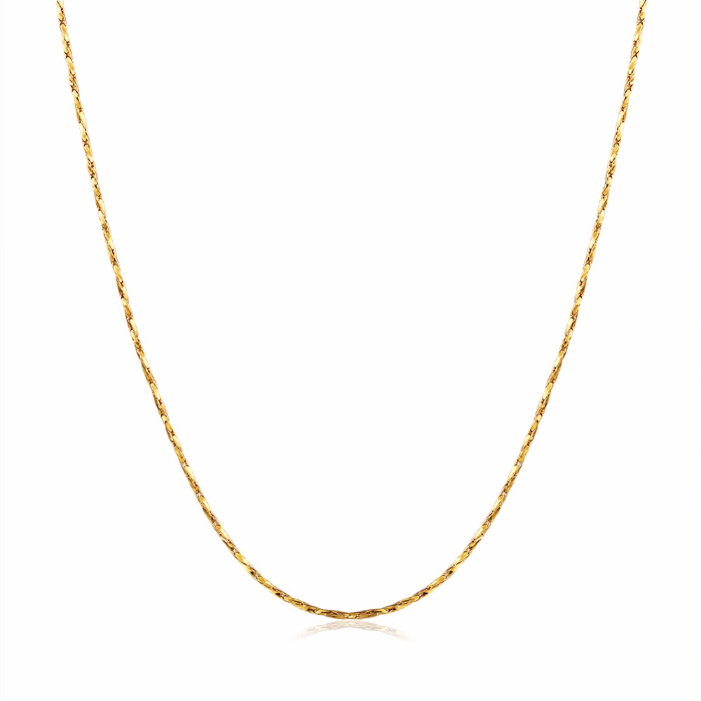 Womens fine Thin Chain for pendant 18KGP Electroplate Gold Rose Gold Silver 0.5mm necklaces Chains Fastness to fading Chains