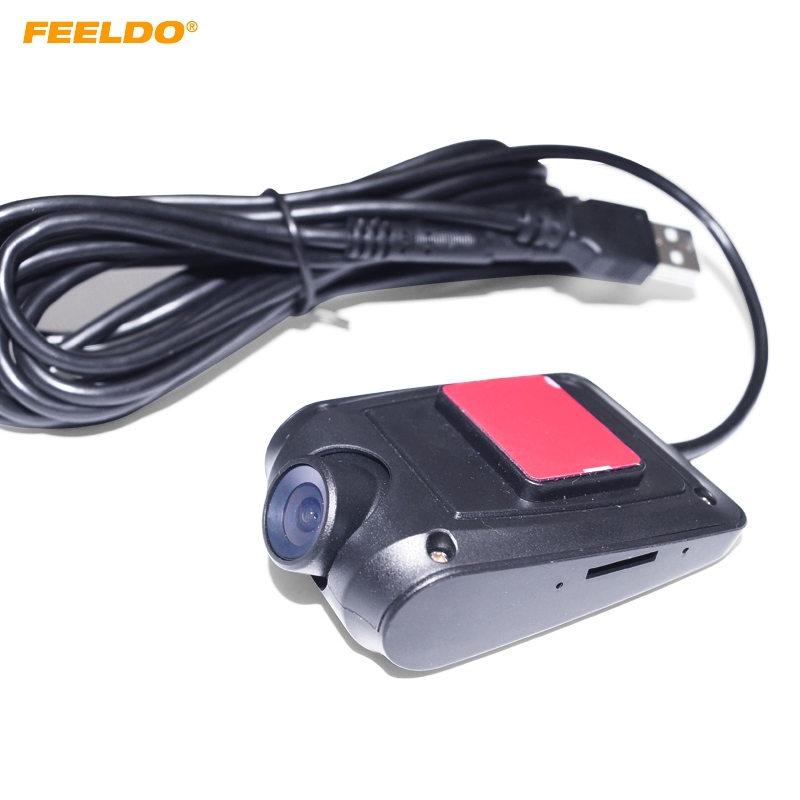 FEELDO Ultra Slim 720P HD Car Front USB Digital Video DVR Recorder Camera For Car Android 4.2/4.4/5.1/6.0 DVD Navigator