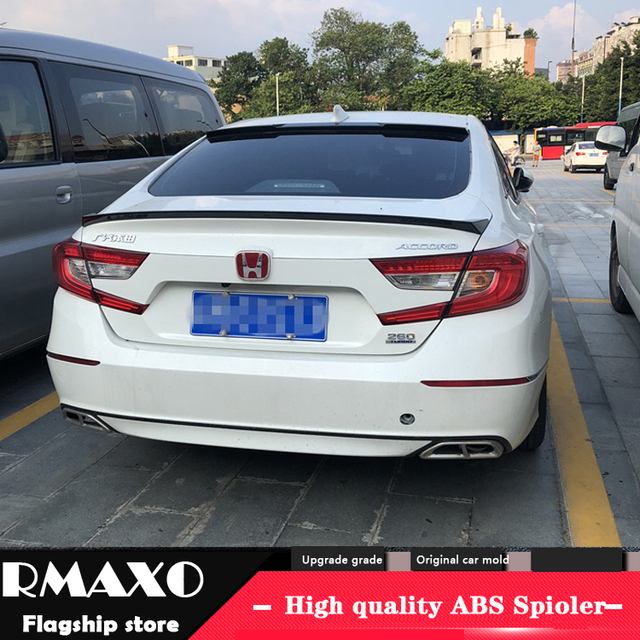 For Honda Accord Spoiler 2018 2019 High Quality Abs Material Car Rear Wing Primer Color