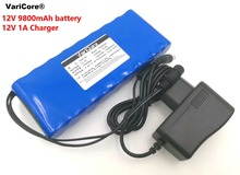 12 V 9.8Ah 9800Mah 18650 Oplaadbare Batterijen 12 V Li Ion Batterij Bescherming Boord Cctv Monitor Batterij + 12.6V 1A Charger