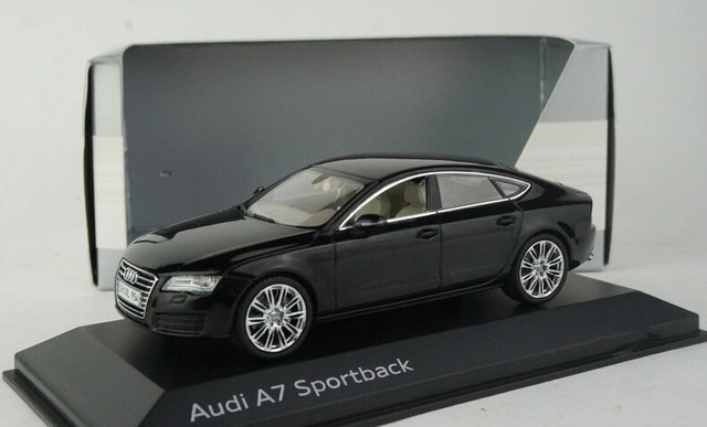 цены  Free Shipping! Black 1:43 Car Model  Audi A7 Sportback Sedan Diecast Model Car Classic Toys Car Replica Luxury Collection