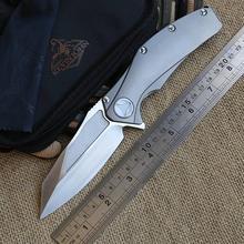 Kevin John matrix titanium handle S35vn blade ball bearing flipper folding Tactical camping hunt knife pocket EDC tool