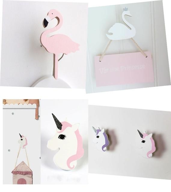 Ins Holz Kinderzimmer Kleiderhaken Wand Aufkleber Flamingo Schwan ...