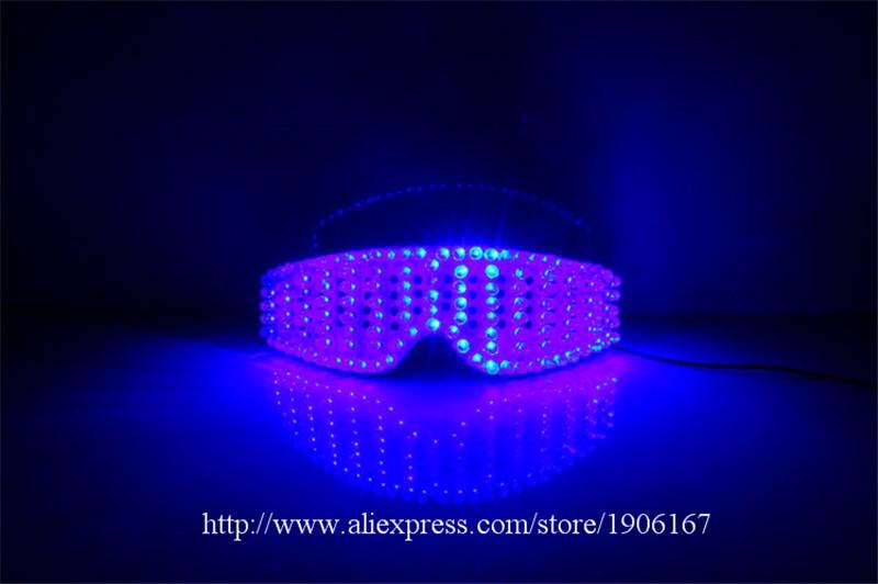 Blue led luminous party glasses10