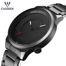 CADISEN Rubber Strap Luxury Brand Women Men Unisex Waterproof Fashion Casual Wristwatches Quartz Unique Creative Sports