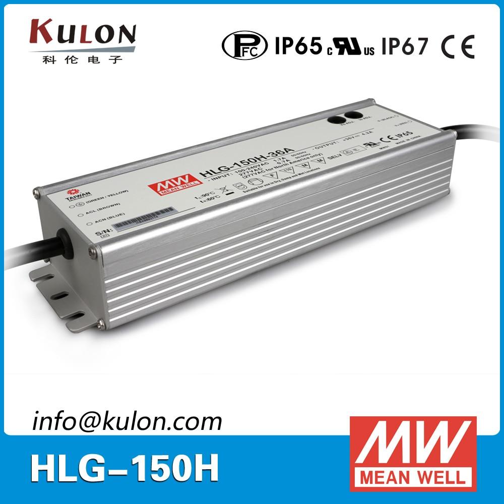 цена на Original MEAN WELL led driver 24V HLG-150H-24A adjustable LED Power Supply Single output 150W 24V 6.3A