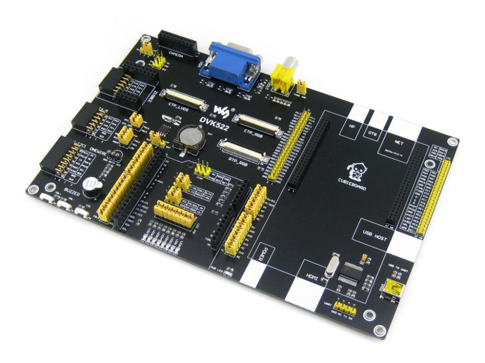 Cubieboard Cubieboard2 A10 A20 Expansion Development Board DVK522 with various components & interfaces also designed for Arduino