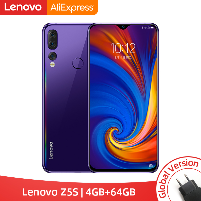 Global Version Lenovo Z5s Snapdragon 710 Octa Core 4GB 64GB Mobile Phone Face ID 6 3inch