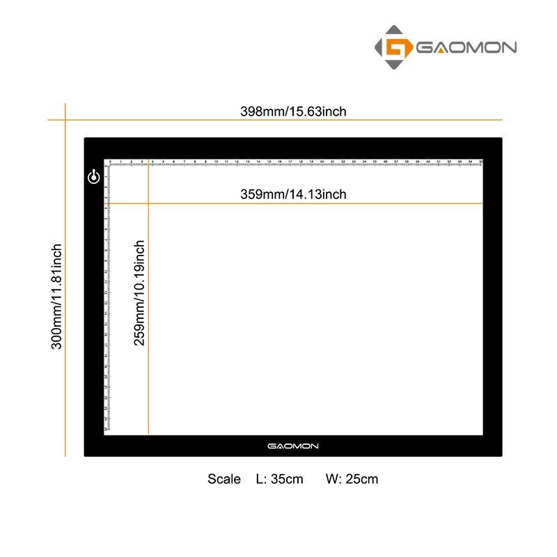 GAOMON GB4 5MM Ultra nazik LED İşıq Yastığı İşıq qutusu B4 - Kompüter periferikler - Fotoqrafiya 4