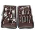 New 12 In 1 Stainless Steel Nail Clipper Nipper Cutter Pedicure Manicure Set Kit Case Nail Tools Sets H7JP