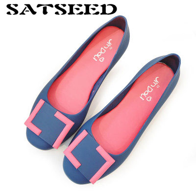 2018 Spring and Summer New Jelly Sandals Waterproof Breathable Comfortable Non-slip Sandals Flat Heel Set Foot Round Shoes