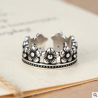 Høy kvalitet retro stil 925 sterling sølv små blomster damer - Fine smykker - Bilde 1