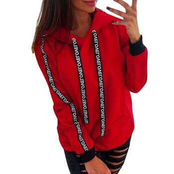 Damska obszerna Bluza z kapturem Plus rozmiar z długim rękawem solidna Bluza z kapturem Bluza z kapturem Bluza z kapturem Bluza Damska #38 tanie i dobre opinie Poliester Mieszanka bawełny CN (pochodzenie) Wiosna jesień Bluzy REGULAR Pełna Suknem Swetry WOMEN Stałe Na co dzień