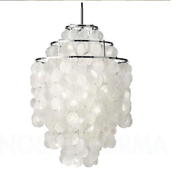 Hot sell product verpan fun verner led chandelier light 3 circle diy dia30cm naturals sea - Lampe cercle led ...