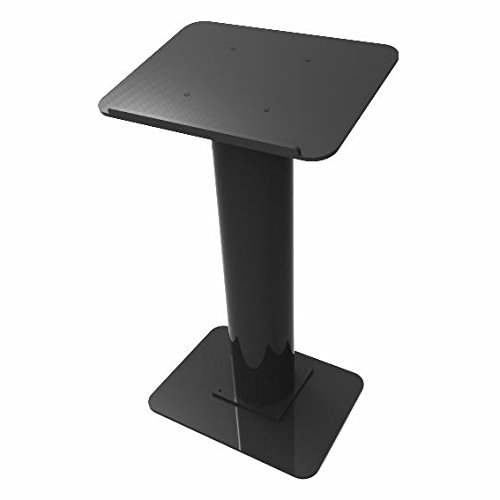 Fixture Displays Podium, Black Acrylic Pulpit, Lectern - Assembly Required