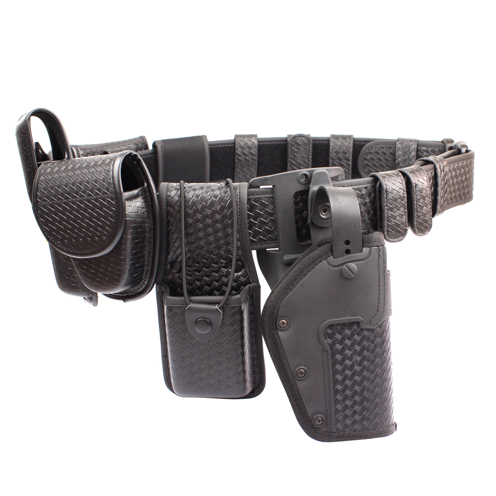 Police 10piece Duty Belt Rig Kit Includes Handcuff Case Radio Holder Belt Keepers Compact Light Holder