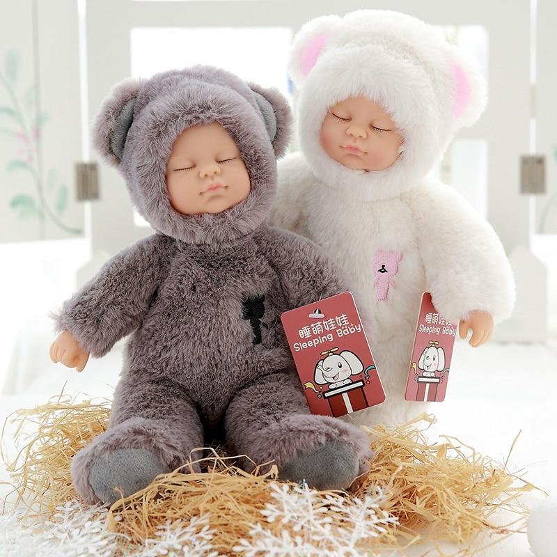 Kawaii baby dolls & stuffed kids plush toys for girls Christmas gift high quality Bjd bebe doll reborn baby born toys стоимость