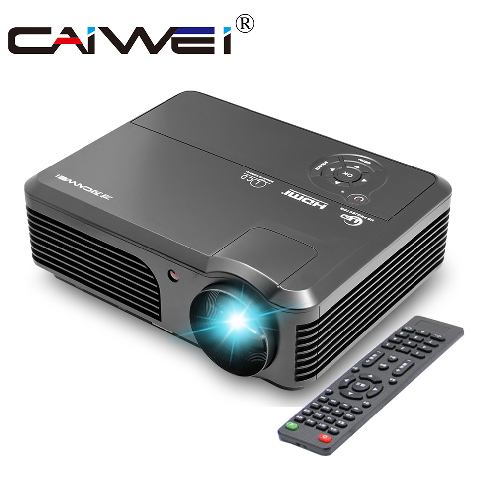 CAIWEI A6 Digital HD <font><b>Smart</b></font> Projector 1080p HDMI VGA USB TV Home Theatre Movie Video Game Beamer Multimedia