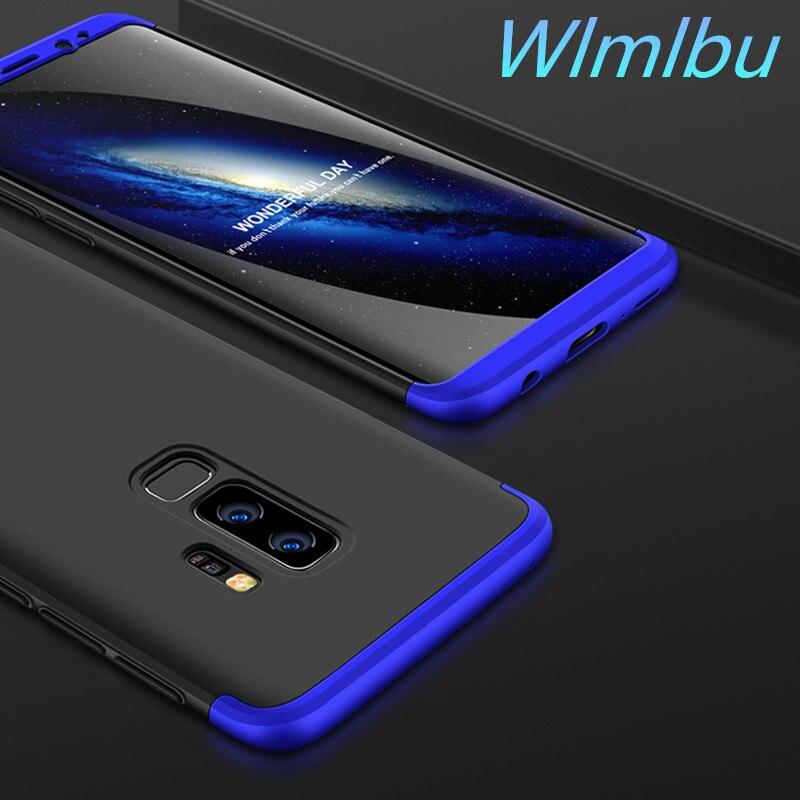 Luxus 360 Grad volle körper schutz fall für samsung galaxy S6 S7 rand hinweis 4 5 8 fall kunststoff zurück abdeckung für S8 S9 plus fall