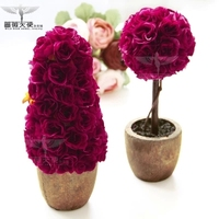 Free Shipping Hot Sale European Rural Clay With Mei Red Rose Simulation Plant Simulation Flower Suits