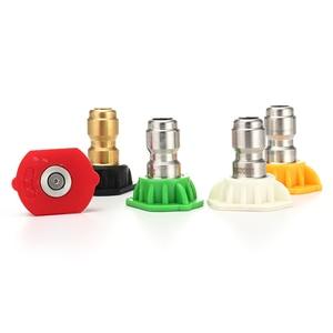 """Image 3 - ROUE Echt 1/4 """"Edelstahl 4000 Psi Quick Connect Hochdruck Spray Spitze 0 15 25 40 65 Grad düse 4,0 Orifice Größe"""