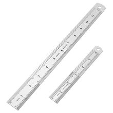 Stainless Steel Ruler 12 Inch + 6 Metal Rulers