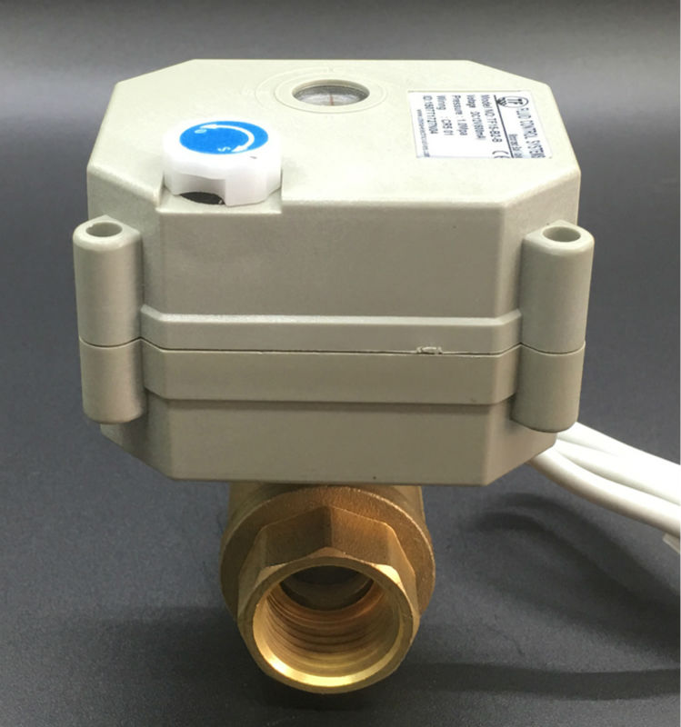 DC12V 5 Wires DN15 Brass Motor Operated Ball Valve With Manual Override And Singal Feedback NPT/BSP Thread 1/2 Motorized Valve mini brass ball valve panel mountable 450psi with lever handle chrome plated malexfemale npt