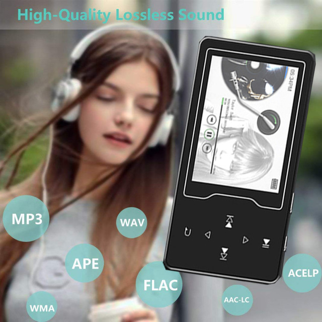CHENFEC 2.4Inch Screen MP4 Player with Speaker Touch Key Lossles Music Player TF Card up to 64GB Video Player Support FM E Book