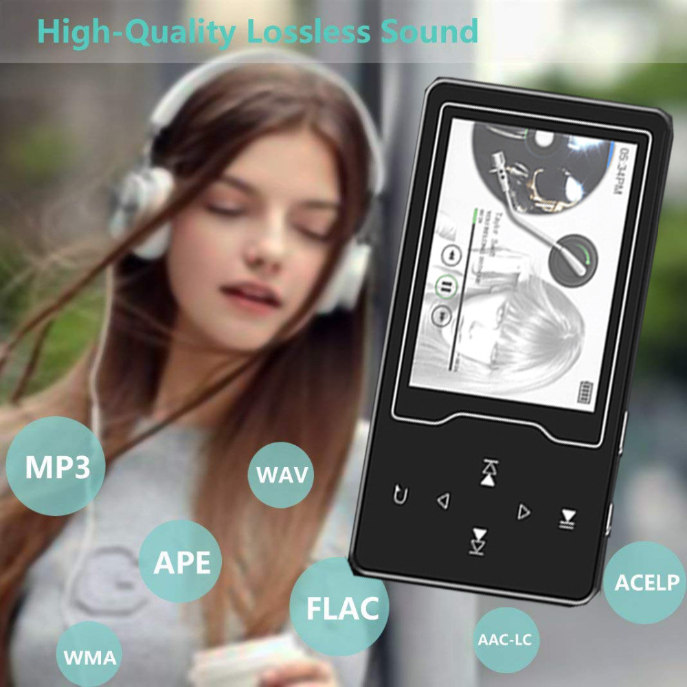 CHENFEC 2.4Inch Screen MP4 Player with Speaker Touch Key Lossles Music Player TF Card up to 64GB Video Player Support FM E-Book image