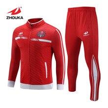 Индивидуальные спортивные костюмы для бега, мужская футбольная форма для командного клуба, сублимационная футбольная куртка, спортивный костюм