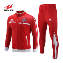 Customized Jogging Running Tracksuits Men Team Club Jerseys Football Uniform Sublimation Soccer Jacket Track Suit