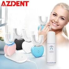 360 degrés sonique Intelligent automatique brosse à dents électrique U Type 4 Modes Rechargeable USB Charge 60ml liquide dentifrice mousse