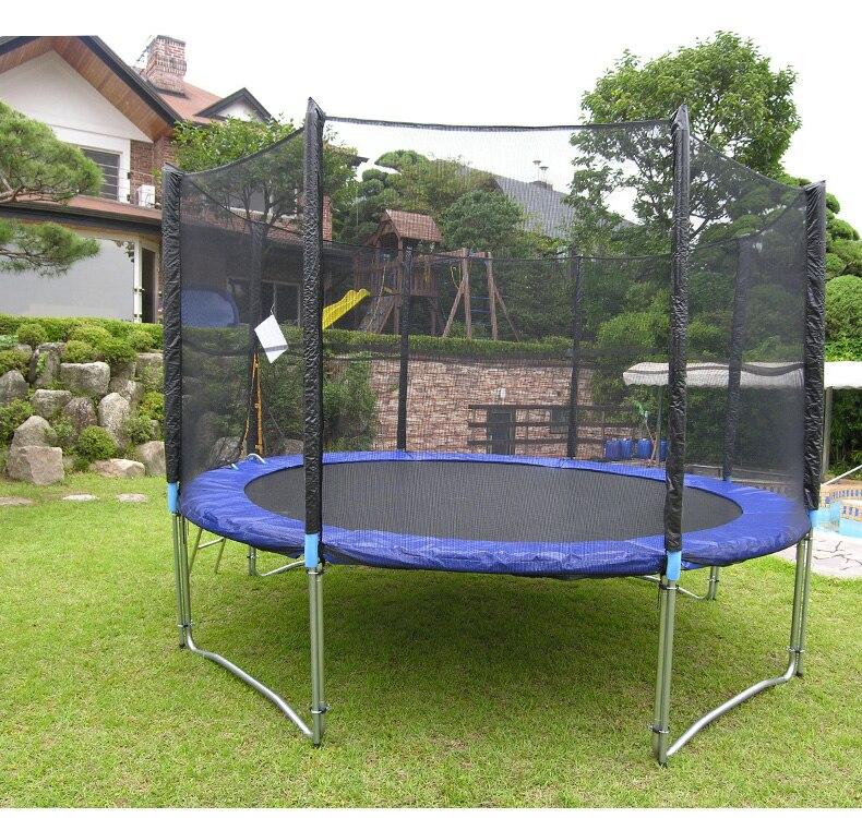 Zestaw trampoliny 12 stóp z matą + bezpieczna siatka + drabina